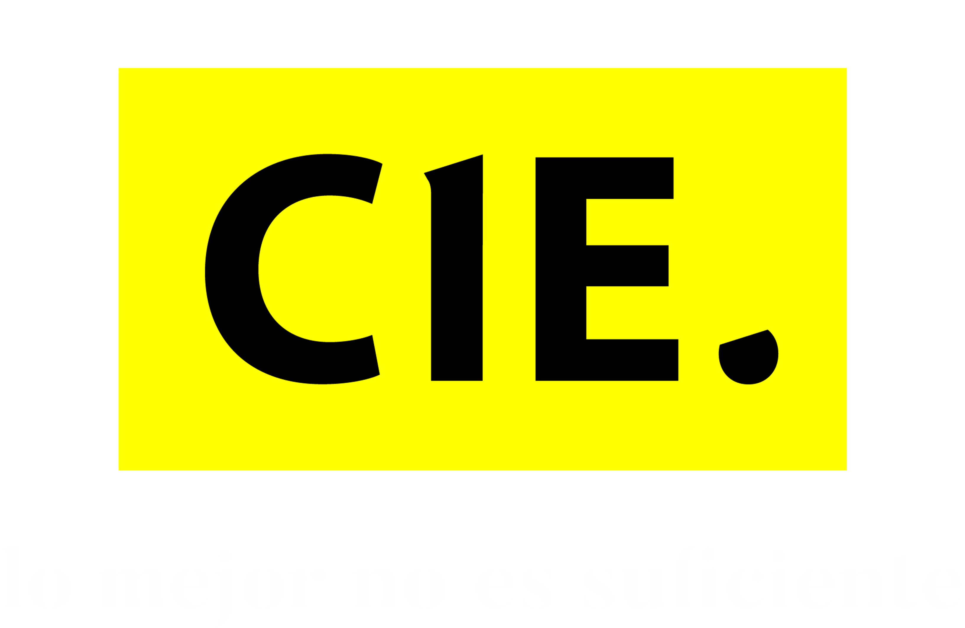 Logotipo CIE amarillo